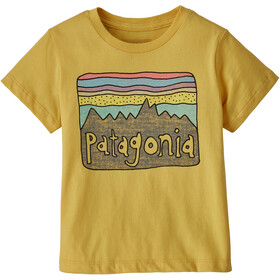 Patagonia Fitz Roy Skies Organic T-Shirt Kids surfboard yellow